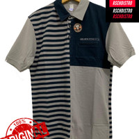 Kaos Kerah Fashion Pria CRS 91 Original Salur Kombinasi XL