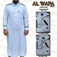Baju Gamis Pria Jubah Al Wafa Gold Putih