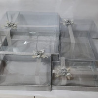 kotak Hantaran mika isi 4 silver
