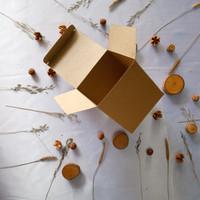 GIFT BOX/KOTAK PACKING/KOTAK SOUVENIR KUBUS BAHAN BROWNKRAFT 200 gr