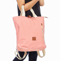 tas tote ransel laptop backpack kanvas wanita cewek Aljio original
