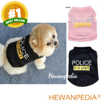 BAJU ANJING KUCING POLICE POLISI K9 - Kaos Pakaian Anjing Kucing Hewan
