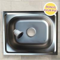 Bak Cuci Piring Single Bowl Stainless 50x40 PRESTILE / BCP + AFUR PVC