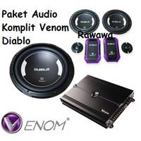 Paket Audio Mobil VENOM DIABLO Full Set SPLIT POWER 4CH SUBWOOFER ORI