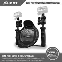 Dome Port Diving Set GoPro Hero 5/6/7 Black Dive Case Grip LED Mount