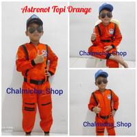 Baju Kostum Karnaval Anak Profesi Astronot pilot Nasa orange