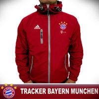 Jaket Tracker Bayern Munchen Red / Jaket Pria Wanita / Jaket Bola