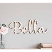 Dekorasi dinding - Nama Cantik Bukan Sticker - Alfabet - panjang 50 cm