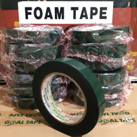 "DOUBLE TAPE FOAM HIJAU 1""(24MM× 5M) DOUBLE TAPE BUSA HIJAU MURAH"