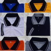 kaos Pria Polo Shirt Kerah Warna Combinasi Lengan pendek Size M.L.XL.