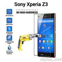 Clear Tempered Glass SONY XPERIA Z3 BIG Anti Gores Kaca Screen Guard
