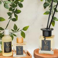 Veda Reed Diffuser 160ml - Lemongrass - Pengharum Ruangan Aromaterapi - 50 ml, Lemongrass