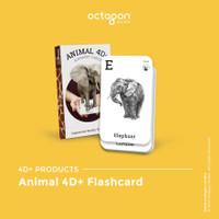 Kartu Animal 4D+ / Flash Card / Mainan Edukasi Anak (Octagon Studio)