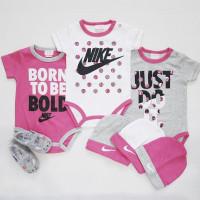 Jumper/jumper bayi perempuan set 6in1 Nike sz 3-6m