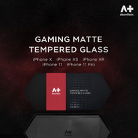 ATOM TECH - Gaming Matte Tempered Glass for iPhone X / XS / XR / 11