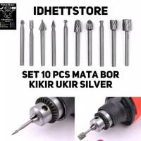 Mata Bor Kikir Ukir Kayu HSS Milling Cutter Mini Grinder Tuner 10 Pcs