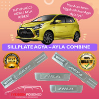 Aksesoris Asesoris Toyota Agya Daihatsu Ayla Sillplate Stainless Combi