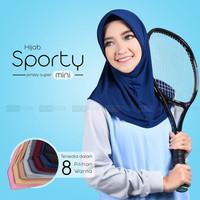 Hijab Sporty Mini / Hijab Senam / Hijab Olahraga / Hijab Bersepedah