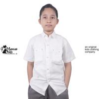 Mueeza Kids Shirt Original Kemeja Anak polos Lengan Pendek White