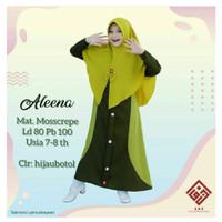 ALEENA SYARI KIDS Baju Muslim Gamis Anak Perempuan Usia 7 - 9 Tahun