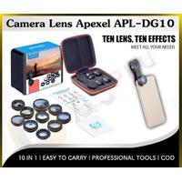 COD Camera Lens Apexel APL DG10 10in1 Set Lensa Kamera HP Handphone