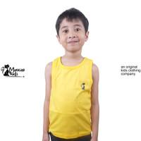 Mueeza Kids Baju Kaos Anak Tank Top Kutung Lekbong Anak Kuning - Kuning, 1-2 tahun