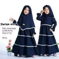 SAFIRA SYARI KIDS Baju Muslim Gamis Anak Perempuan Usia 5 - 7 Tahun