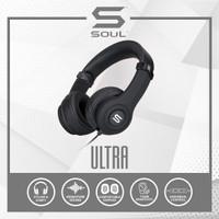 SOUL ULTRA High Definition Dynamic Bass On-Ear Headphone - SILVER - Hitam