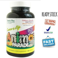 Natures Plus Animal Parade 45 Tablet SOL Vitamin Anak