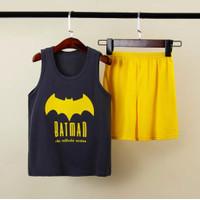 Setelan Singlet Anak Impor Batman SETELAN ANAK 1-7THN (baju+celana)