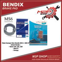 Paket Kampas Rem Bendix Vario, Scoopy, Beat - Depan & Belakang