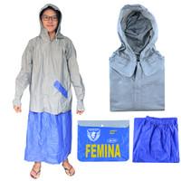 Jas hujan Spartan Femina 1 Set Atasan Rok Polos Lengan Panjang-JR-101