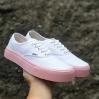 Obral Sepatu Vans White Pink Cewe Casual Running Grade Original 36-40