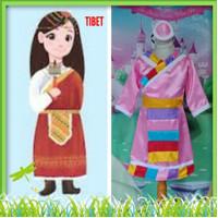 Kostum Anak Internasional Baju Adat Tradisional Negara Tibet Girl