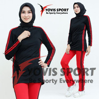 Setelan baju Senam wanita panjang/ Setelan Olahraga wanita hijab murah