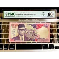 Uang Kuno 10000 Rupiah Sri Sultan Hamengku Buwono IX 1992 PMG 66 EPQ