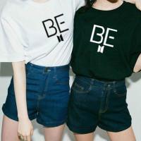 Atasan Tshirt Baju Kaos Wanita Remaja Cewek BTS BE READY Murah Terbaru
