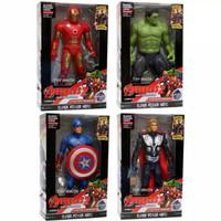 Mainan Robot Action Figur Avenger Thor IronMan Hulk Captain America