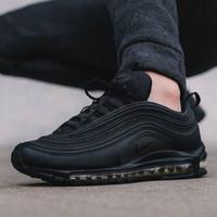 Sepatu Nike Airmax 97 All Black Premium Original Pria