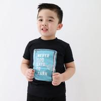 LilyandClark Baju Kaos Anak Cowok Hitam KLC13 Hitam - XS