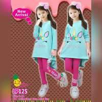 Baju Setelan Anak Perempuan Panjang Little Pineapple Unicorn Tosca