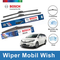 Bosch Depan&Belakang Wiper Toyota Wish New Clear Advantage 24&14+H307
