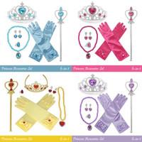 Tongkat Mahkota Tiara Aksesoris Kostum Princess Anak - 6in1