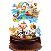 Baby Bus Friends Topper Cake Birthday / Hiasan Kue Ulang Tahun