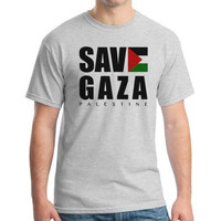 T1928 Kaos Tshirt Baju Combed 30S Distro Save Gaza Palestina Palestin