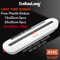 FreshpackPro QH-02 XinBaoLong Portable Food Vacuum Sealer Mesin Vacum - Abu2 GRS 1Bln