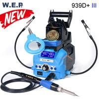 WEP 939D+ III New Robot Solder 4 In1 Kaca Pembesar Lampu Penjepit