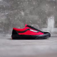 Sepatu Vans Oldskool V360 OG Billys / Black Red Japan Market