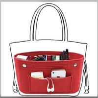 Tas Multifungsi Organizer Bag Insert Bag Dual in Bag M - Hitam