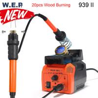 WEP 939 II Solder Ukir Lukis Kayu Wood Carving Burning Pyrography Pen